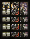Football Collectibles:Photos, 2007 Brett Favre Signed Oversized Photograph Collage Prints Lot of 4. ...