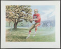 """Football Collectibles:Others, Joe Montana """"The Dream Begins"""" Signed Lithograph...."""