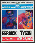 Boxing Collectibles:Memorabilia, 1986 Mike Tyson Vs. Trevor Berbick Original Fight Poster - Event Which Made Tyson Youngest Heavyweight Champ!...
