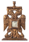 Furniture , A CARVED TWO-HEADED EAGLE MEXICAN CANDLESTICK. 20th century. 19-1/2 x 12-1/2 inches (49.5 x 31.8 cm). The Elton M. Hyder, ...