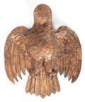 Sculpture, A MEXICAN CARVED GILT WOOD EAGLE. 20th century. 21-1/2 x 17 inches (54.6 x 43.2 cm). The Elton M. Hyder, Jr. Charitable an...