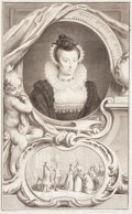 Fine Art - Work on Paper:Print, FOLIO OF TWENTY-THREE MISCELLANEOUS PORTRAIT PRINTS OF NOTABLES. 18th and 19th century. Engravings, hand-tinted mezzotint, a... (Total: 23 Items)