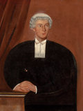 Fine Art - Painting, European, BRITISH ARTIST (20th Century). Portrait of a Barrister. Oil on canvas. 35 x 26-1/2 inches (88.9 x 67.3 cm). The Elton ...