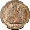 Seated Quarters, 1843-O 25C Large O MS64 NGC....