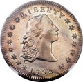 Early Dollars, 1795 $1 Flowing Hair, Three Leaves MS62 NGC. B-5, BB-27, R.1....