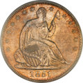 Seated Half Dollars, 1851-O 50C MS65 PCGS. CAC. WB-4, R.3....