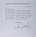 Autographs:Authors, Howard Fast, American Author. Typed Letter Signed. Very good....