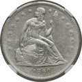 Seated Dollars: , 1860-O $1 AU55 NGC. NGC Census: (56/522). PCGS Population (75/773).Mintage: 515,000. Numismedia Wsl. Price for problem fre...