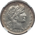 Barber Quarters: , 1892-S 25C AU58 NGC. NGC Census: (14/64). PCGS Population (18/81).Mintage: 964,079. Numismedia Wsl. Price for problem free...