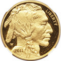 Modern Bullion Coins, 2011-W $50 One-Ounce Gold Buffalo, Early Releases PR70 Ultra CameoNGC. .9999 Fine. NGC Census: (1210). PCGS Population (0)...