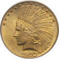 Indian Eagles: , 1910 $10 MS63 PCGS. PCGS Population (962/333). NGC Census:(1009/578). Mintage: 318,500. Numismedia Wsl. Price for problem ...