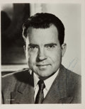 Autographs:U.S. Presidents, Richard Nixon, 37th President of the United States. Signed andInscribed Photograph. 8 x 10 inches. Near fine....