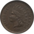 Indian Cents: , 1873 1C Open 3 MS65 Brown NGC. NGC Census: (10/2). PCGS Population(5/1). Mintage: 11,676,500. Numismedia Wsl. Price for pr...