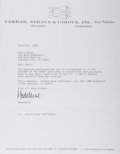 Autographs:Authors, Madeleine L'Engle, American Author. Typed Letter Signed. Nearfine....