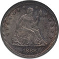 Seated Quarters: , 1888-S 25C MS64 NGC. NGC Census: (30/20). PCGS Population (23/8).Mintage: 1,216,000. Numismedia Wsl. Price for problem fre...