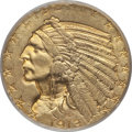 Indian Half Eagles: , 1913 $5 MS63 PCGS. PCGS Population (1349/562). NGC Census:(1068/486). Mintage: 915,900. Numismedia Wsl. Price for problem ...