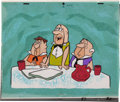 Animation Art:Production Cel, The Flintstones The Tycoon Episode Production CelSet-Up with Background Animation Art (Hanna-Barbera, 196...