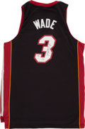 Basketball Collectibles:Others, Dwyane Wade Signed Miami Heat Jersey...