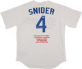 Baseball Collectibles:Uniforms, Duke Snider Signed Los Angeles Dodgers Stat Jersey. ...