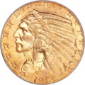 Indian Half Eagles, 1913-S $5 MS66 PCGS....