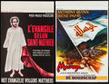 """Movie Posters:Drama, The Gospel According to St. Matthew & Other Lot (Continental,1966). Belgian Posters (2) (13.5"""" X 21"""" & 14"""" X 21.5"""").Drama.... (Total: 2 Items)"""