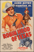 "Movie Posters:Western, Robin Hood of Texas (Republic, 1947). One Sheet (27"" X 41""). Western.. ..."