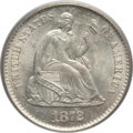 Seated Half Dimes: , 1872-S H10C Mintmark Below Bow MS65 PCGS. PCGS Population (83/56).NGC Census: (133/55). Mintage: 837,000. Numismedia Wsl. ...