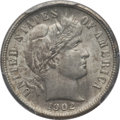 Barber Dimes: , 1902-S 10C MS62 PCGS. PCGS Population (10/44). NGC Census: (7/34).Mintage: 2,070,000. Numismedia Wsl. Price for problem fr...
