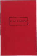 Books:Science Fiction & Fantasy, Robert E. Howard. LIMITED. Black Dawn. Roy A. Squires, 1972. First edition, first printing. Limited to 234 numbere...
