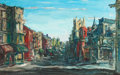 Fine Art - Painting, American:Contemporary   (1950 to present)  , WALTER EMERSON BAUM (American, 1884-1956). City Stroll,Pennsylvania, 1950. Oil on masonite. 24 x 38 inches (61.0 x96.5...