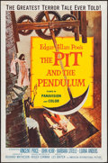 """Movie Posters:Horror, The Pit and the Pendulum (American International, 1961). One Sheet(27"""" X 41""""). Horror.. ..."""