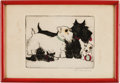 Original Comic Art:Miscellaneous, Clara Tice Two Dogs Signed Fine Art Print Original Art(undated)....