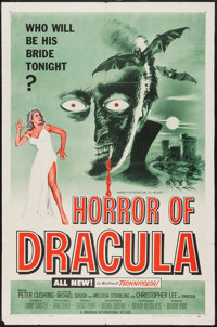 "Horror of Dracula (Universal International, 1958). One Sheet (27"" X 41""). Horror"