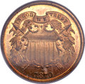 Proof Two Cent Pieces, 1870 2C PR66 Red NGC....