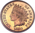 Proof Indian Cents, 1880 1C PR67 Red and Brown PCGS. CAC....