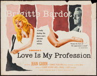 "Love is My Profession (Kingsley International, 1959). Half Sheet (22"" X 28""). Sexploitation"