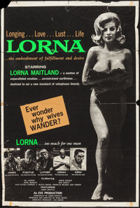 "Lorna (Eve Productions, 1964). One Sheet (28"" X 42""). Sexploitation"