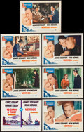 "Movie Posters:Hitchcock, Vertigo and Other Lot (Paramount, R-1963). Lobby Cards (6) (11"" X14""). Hitchcock.. ... (Total: 7 Items)"