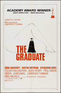 """The Graduate (Avco Embassy, R-1972). One Sheet (27"""" X 41""""). Comedy"""