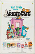"Movie Posters:Animation, The Aristocats (Buena Vista, 1971). One Sheet (27"" X 41"").Animation.. ..."
