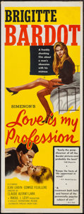 "Movie Posters:Sexploitation, Love is My Profession (Kingsley International, 1959). Insert (14"" X36""). Sexploitation.. ..."