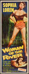 """Movie Posters:Drama, Woman of the River (Columbia, 1957). Insert (14"""" X 36""""). Drama....."""