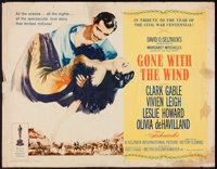 "Gone with the Wind (MGM, R-1961). Half Sheet (22"" X 28"") Style A. Academy Award Winners"