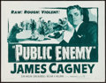 "Movie Posters:Crime, The Public Enemy (Warner Brothers, R-1954). Half Sheet (22"" X 28"").Crime.. ..."