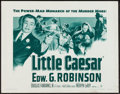 "Movie Posters:Crime, Little Caesar (Warner Brothers, R-1954). Half Sheet (22"" X 28"").Crime.. ..."