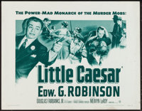 "Little Caesar (Warner Brothers, R-1954). Half Sheet (22"" X 28""). Crime"