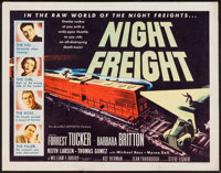 "Night Freight (Allied Artists, 1955). Half Sheets (2) (22"" X 28"") Styles A & B. Drama. ... (Total: 2 I..."