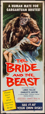 """The Bride and the Beast (Allied Artists, 1958). Insert (14"""" X 36""""). Horror"""