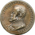Betts Medals, Betts-5. 1559 Marriage of Philip II and Isabella of Valois. Bronze,cast. XF....