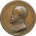 Betts Medals, Betts-5. 1559 Marriage of Philip II and Isabella of Valois. Bronze,struck. XF....